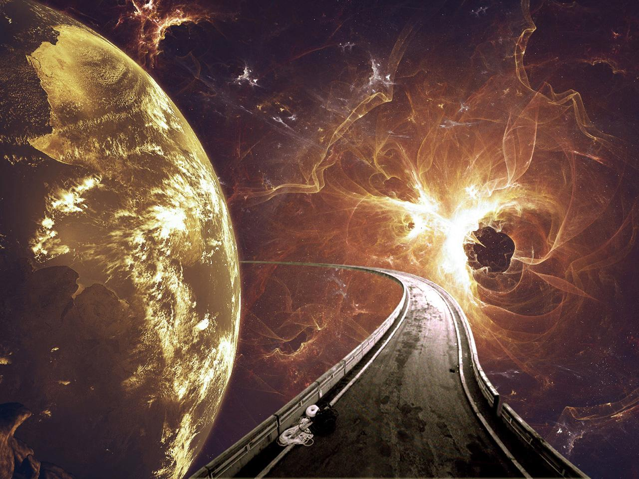 Space road desktop backgrounds ghoztcraft gaming made - Space wallpaper road ...